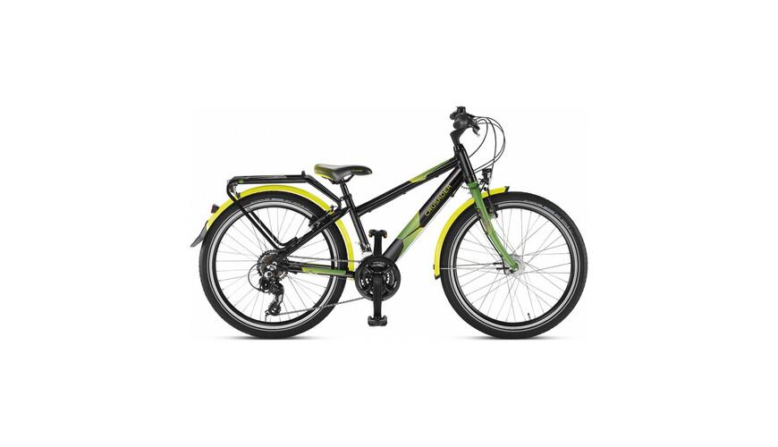 Puky Crusader 24-21 Active light lasten polkupyörä, musta/vihreä